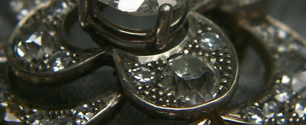 Art deco Ring - Verschnitt - Altschliff Diamant